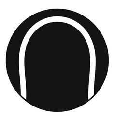 black and white tennis ball icon simple style vector image vector image