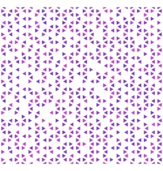 Cute purple triangles on white abstract seamless vector image