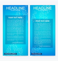 leaflet flyer layout magazine cover corporate vector image