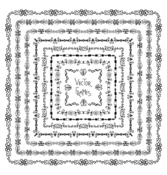 Set of decorative ethnic square frames and vector image vector image