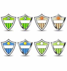 sport shields set vector image vector image