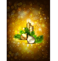 brown Christmas background vector image