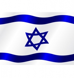 flag of Israel vector image vector image