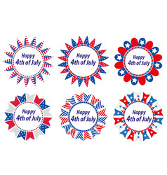 independence day america usa set of round frames vector image