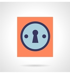Keyhole flat color style icon vector image