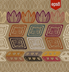 Seamless pattern with abstract ethnic elements vector image vector image