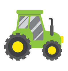 tractor flat icon transport and vehicle vector image