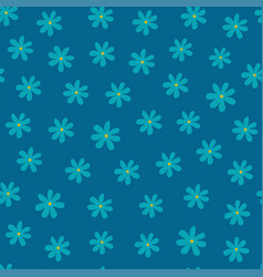 beautiful seamless pattern with flowers vector image vector image