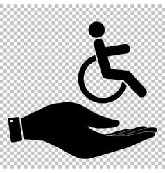 Disabled sign Flat style icon vector image vector image
