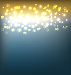 Golden abstract background with bokeh lights vector image vector image