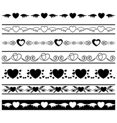set of black borders vector image vector image