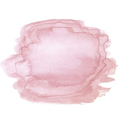 Abstract watercolor hand paint pink texture vector image