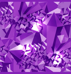 amethyst seamless pattern precious stone vector image