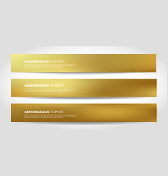 banners with abstract gold background vector image