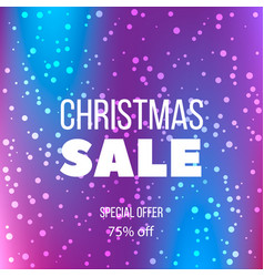 big christmas sale poster special offer discount vector image