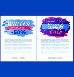 big winter 2017 discount set vector image