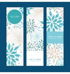 blue and gray plants vertical banners set pattern vector image