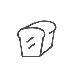 bread loaf line outline icon vector image