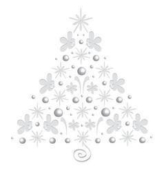 bright merry christmas tree single vector image