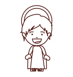 brown silhouette of child jesus vector image