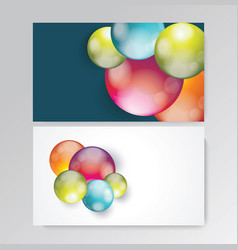 business card design with bright balls composition vector image