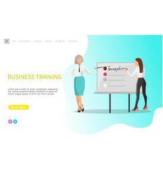 business training whiteboard with infographics vector image