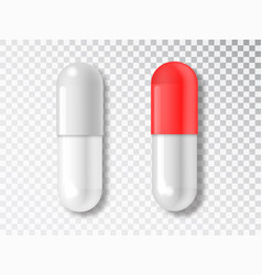 Capsule pill isolated on transparent background vector