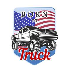 Car off-road 4x4 suv emblem badge born vector