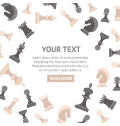 Chess Pieces Banner vector image