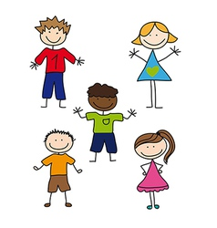 childrens drawing vector image