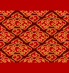 chinese clouds traditional seamlesswallpaper vector image