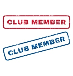 Club Member Rubber Stamps vector