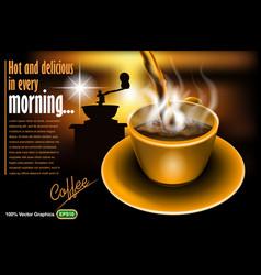 coffee mock up vector image