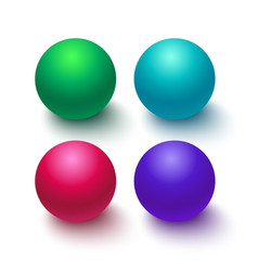 collection colorful glossy spheres isolated on vector image