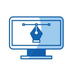 computer electronic work vector image