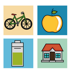 eco friendly objects design vector image