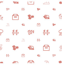 environment icons pattern seamless white vector image