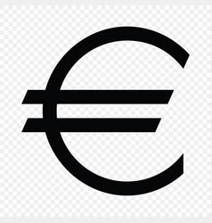 European euro sign vector