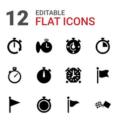 Finish icons vector