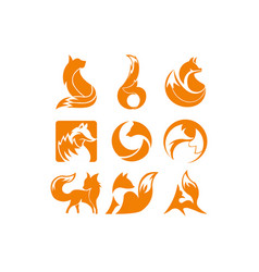 Fox orange inspiration logo vector