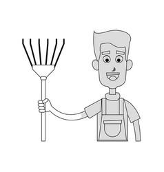 Gardening man icon vector