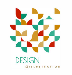geometric design with shapes in style of vector image