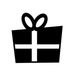 gift box sign icon vector image