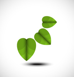 Green leaf icon vector image
