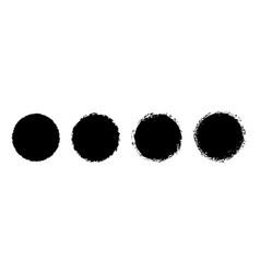 grunge circle stamp round badge distress vector image