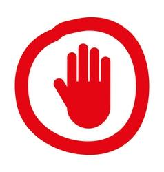 Hand stop design vector
