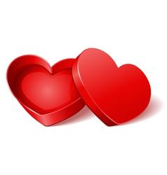 heart gift present open vector image