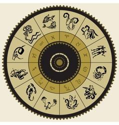 Horoscope circle star signs vector