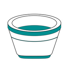 isolated flower pot design vector image