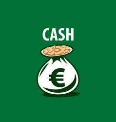 Logo bag of money vector
